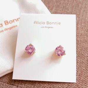 Alicia Bonnie Shinning Gemstone Earrings Pink